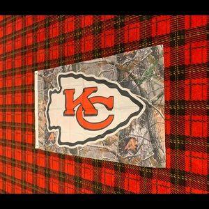 Brand new Kansas City Chiefs Camo banner flag
